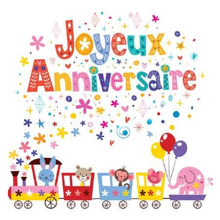 С днем рождения по французскому картинки
