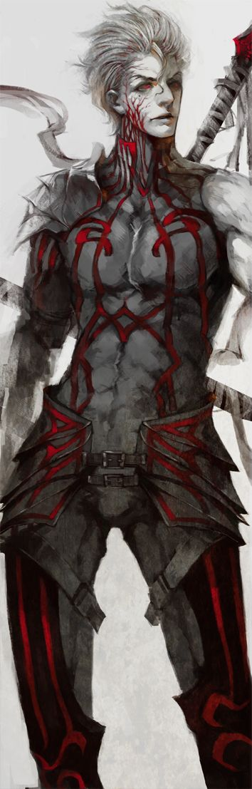 Fate zero LANCER by White-corner.deviantart.com. Reminds me of Motherland Chronicles.