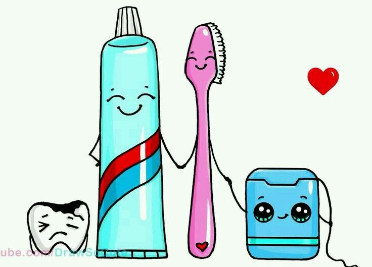 Cute Toothbrush Drawing Pin by ORI on d...