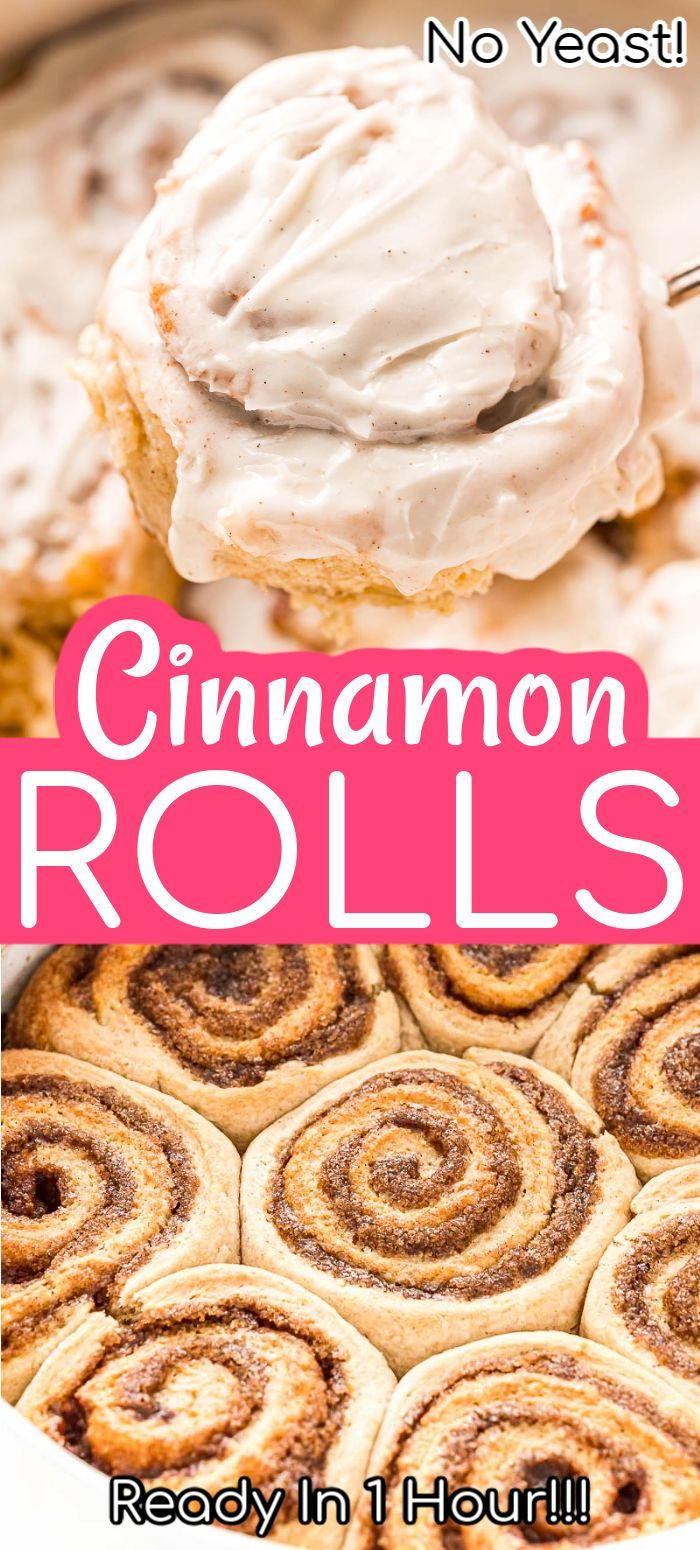 This Easy Cinnamon Rolls Recipe Is Made Without Yeast And Rising
