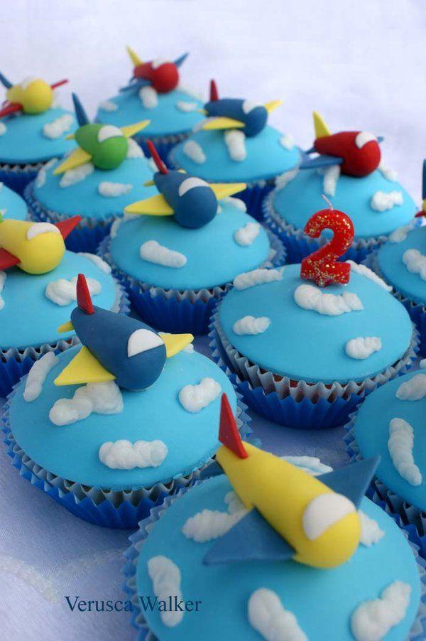 airplane cupcakes by Verusca.deviantart.com on @deviantART