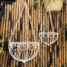 Наборы две железные корзины цветочный горшок держатель металл открытый балкон цветок висит корзина цветка стенд для свадьбы украшения(China (Mainland))