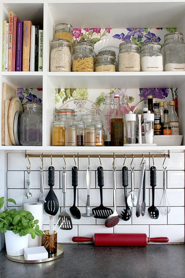 11 Super Smart Ikea Storage And Decorating Hacks For Your Kitchen Small Kitchen Storage Solutions Kitchen Remodel Countertops Kitchen Design Small