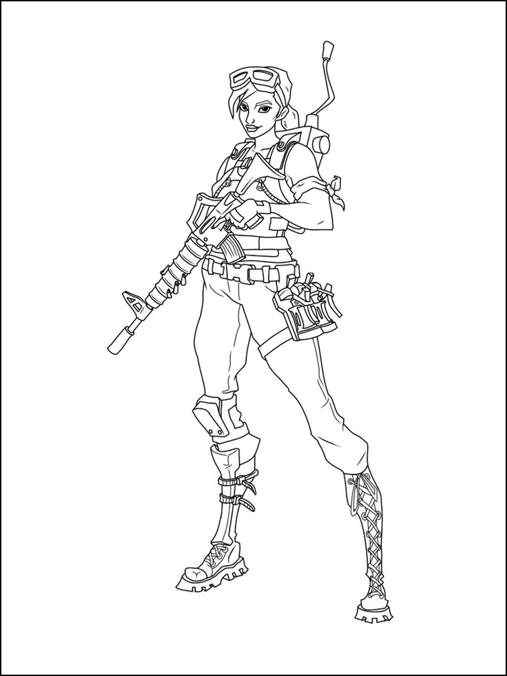Best Fortnite Coloring Pages Printable Free Fortnite In