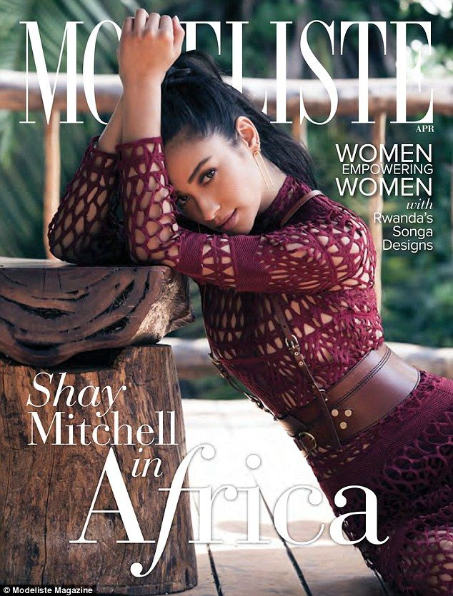 Shay Mitchell goes topless for Modeliste magazine's April issue #dailymail