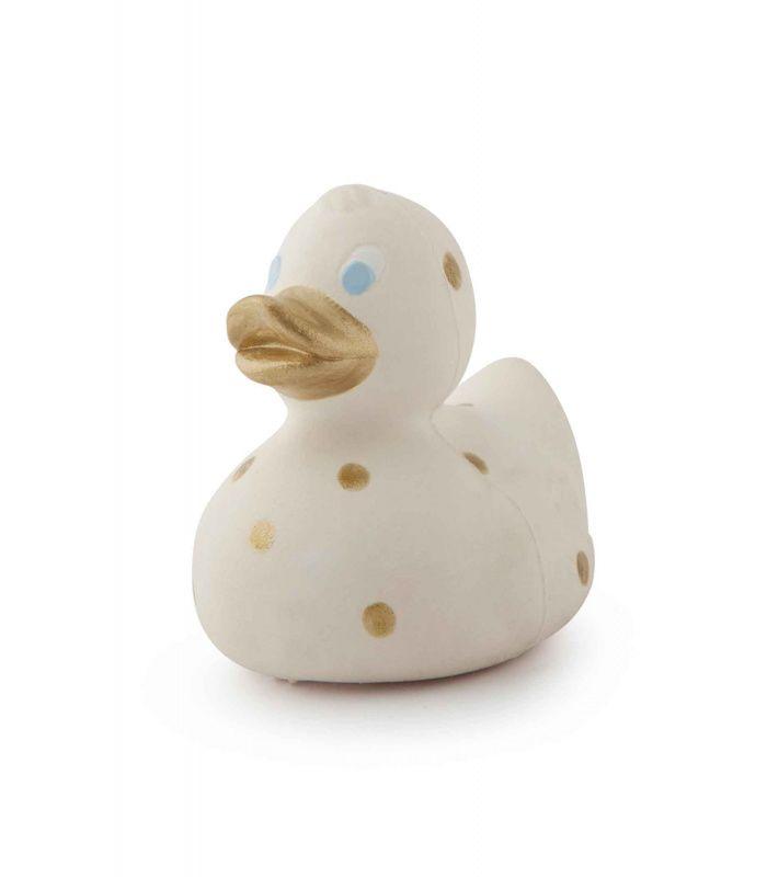 badeendje met gouden stippen van Oli & Carol #duck #eend #retro #badeendje #oliandcarol