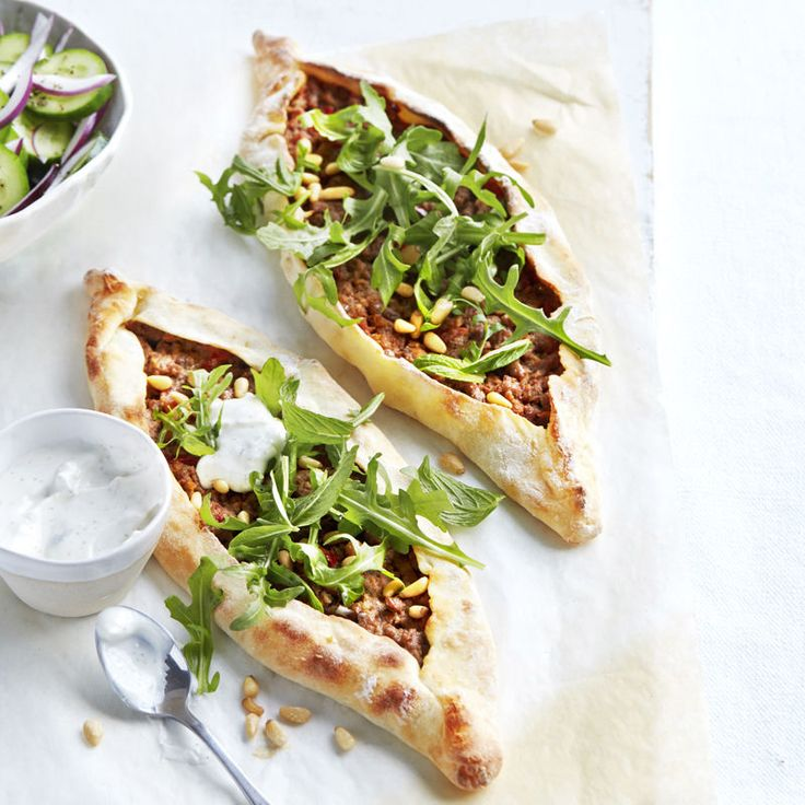 Turkish-style spicy lamb pide | Healthy Recipe | Weight Watchers AU