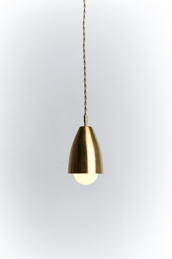 Brass midcentury pendant light by SouthernLightsTN on Etsy