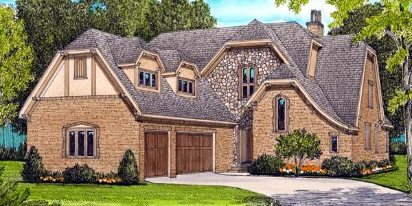 French Country Tudor House Plan 53786
