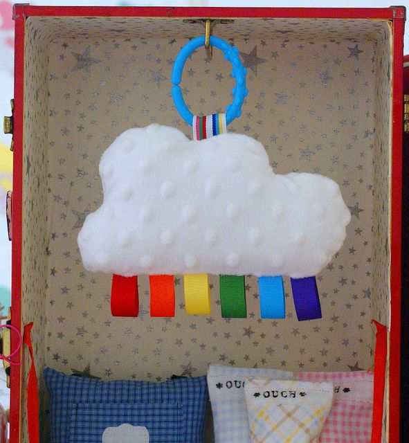 rainbow cloud for baby (put bells inside)