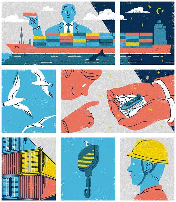 Illustrations for Monocle Magazine on Behance