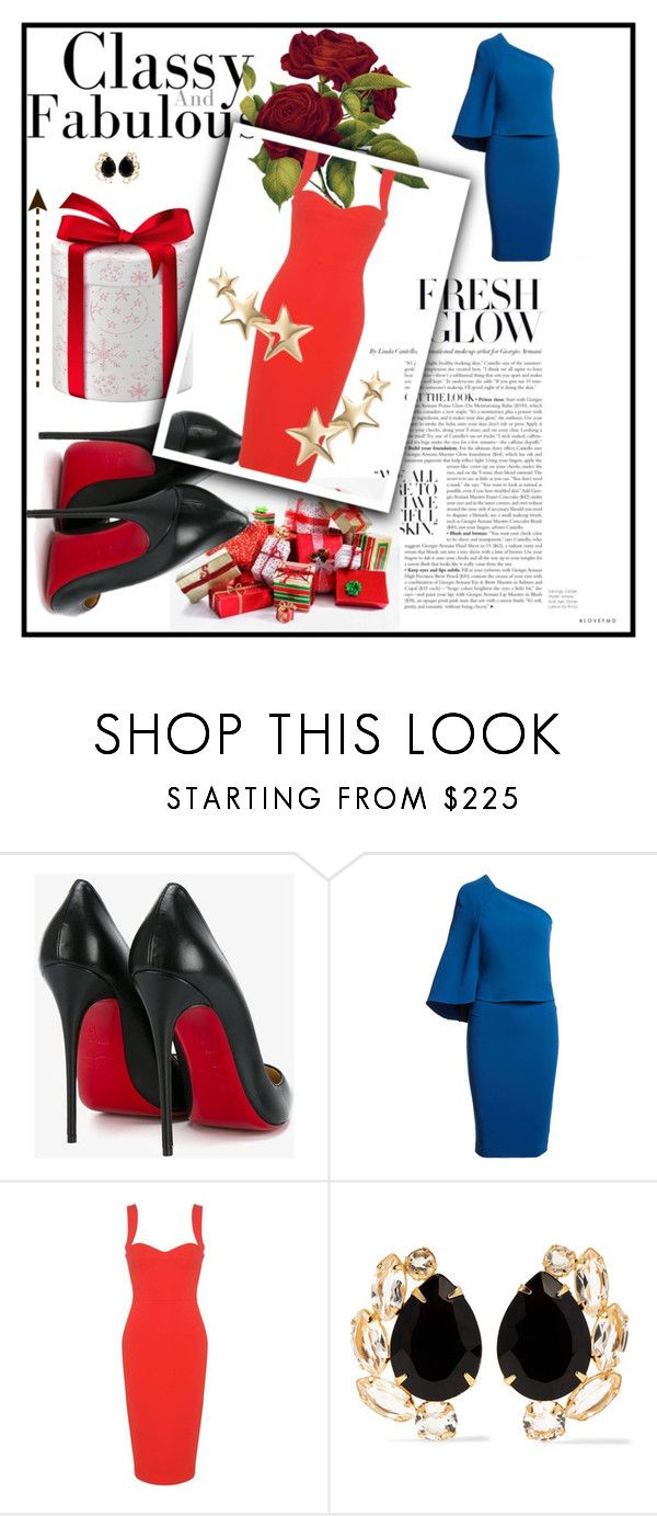 """""""Classic and elegant's style"""" by mariella-montanaro on Polyvore featuring Christian Louboutin, Roland Mouret, Victoria Beckham, Bounkit and Kenneth Jay Lane"""