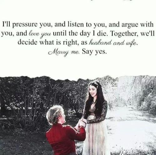 Francis (Toby Regbo) proposes to Mary (Adelaide Kane) in Reign on the CW.  Love!!!