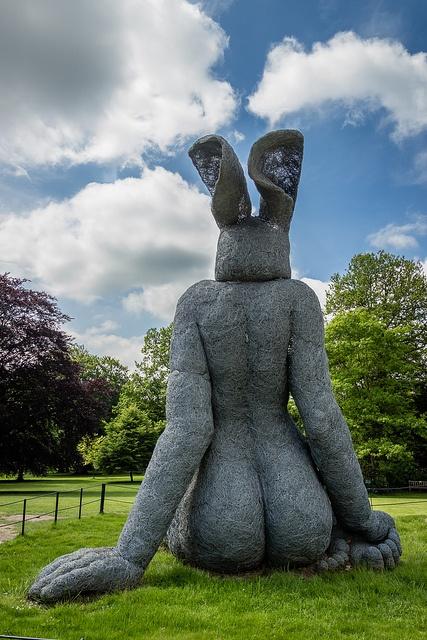 Sitting by Sophie Ryder- Yorkshire Sculpture Park | Flickr - Photo Sharing!