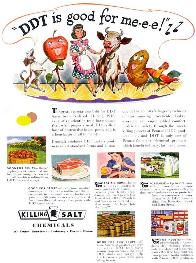 Vintage food ads with bad advice