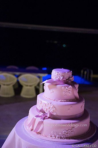 Light Purple Santorini Wedding Cake by Petran Art Pastry Chef ! I Wedding Event Planner Poema Weddings & Special Events I Flower Design by Wedding Wish I Catering Services by Spicy Bites I Photography by Thomas Gallane I Wedding Venue Cavo Ventus