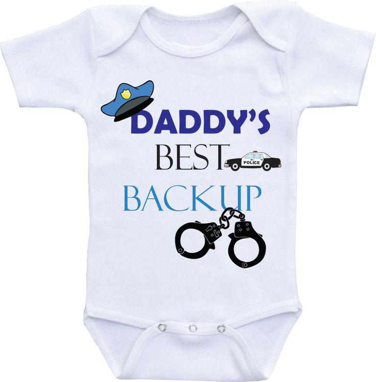 Daddy Police Baby boy Onsie Police baby shower Police Onesie Deputy baby Police Officer baby Sheriff Deputy baby onesies Baby police outfit by DAIICHIBANdesigns on Etsy https://www.etsy.com/listing/459619870/daddy-police-baby-boy-onsie-police-baby