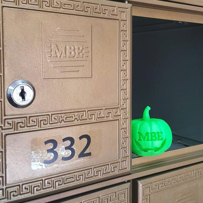 8 best 3d printing images on pinterest business cards carte de happy halloween from the team mbe brisbane cbd and our 3d printed pumpkin reheart Images
