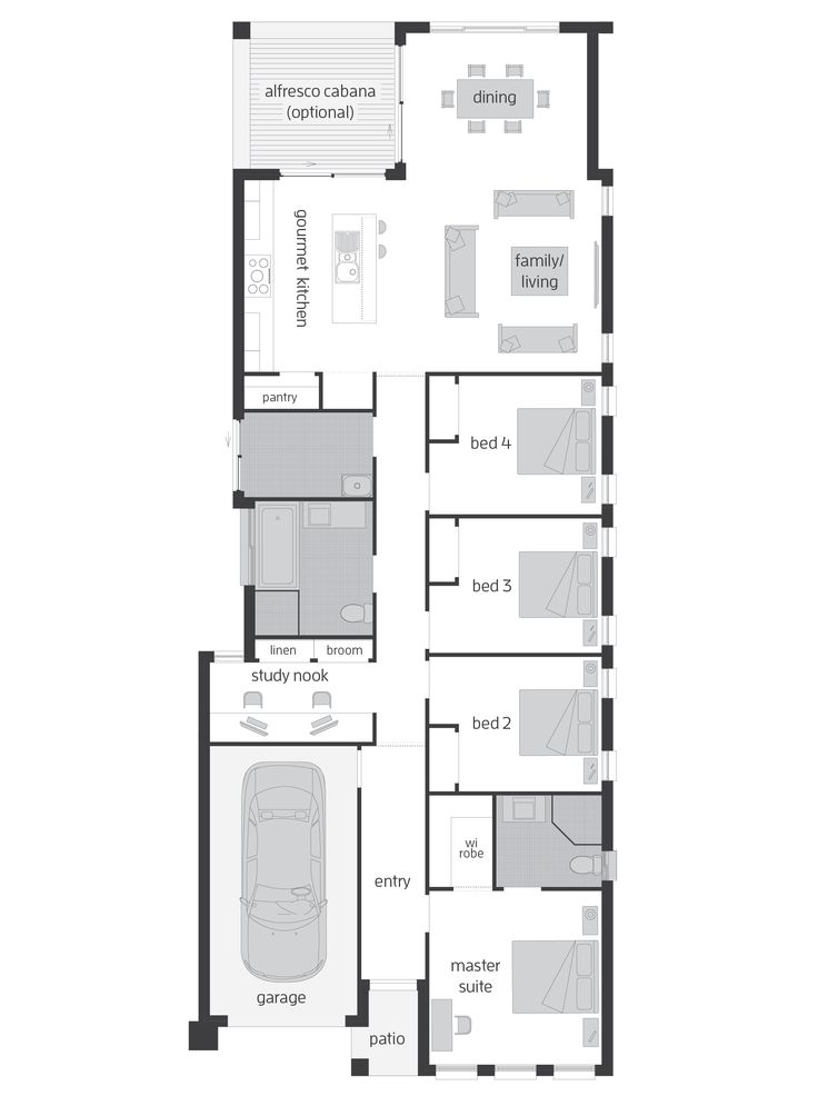 Hamilton Four - Floor Plan