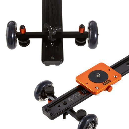 "TARION TR-SD60 60cm 24"" Track Slider Dolly Stabilizer: Amazon.co.uk: Camera & Photo"