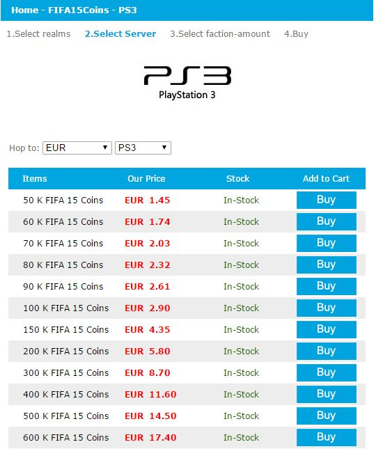 Quick Scan of latest Price of FIFA 15 PS3 Coins  http://www.2mygame.com/news-Quick-Scan-of-latest-Price-of-FIFA-15-PS3-Coins_292.html