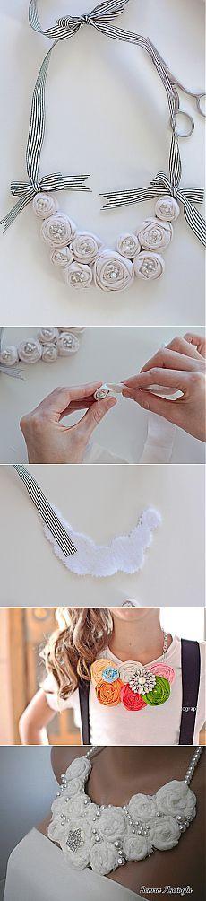 Оригинальное текстильное ожерелье своими руками | Очумелые ручки