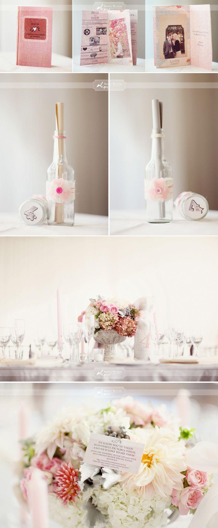 Décoration de table tons pastel et rose