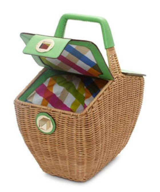 awesome picnic basketsDesign Handbags, Delavan Terraces, Picnics Baskets, Baskets Crafts, Terraces Linden, Kate Spade, Baskets Ideas, Beach Baskets, Picnic Baskets