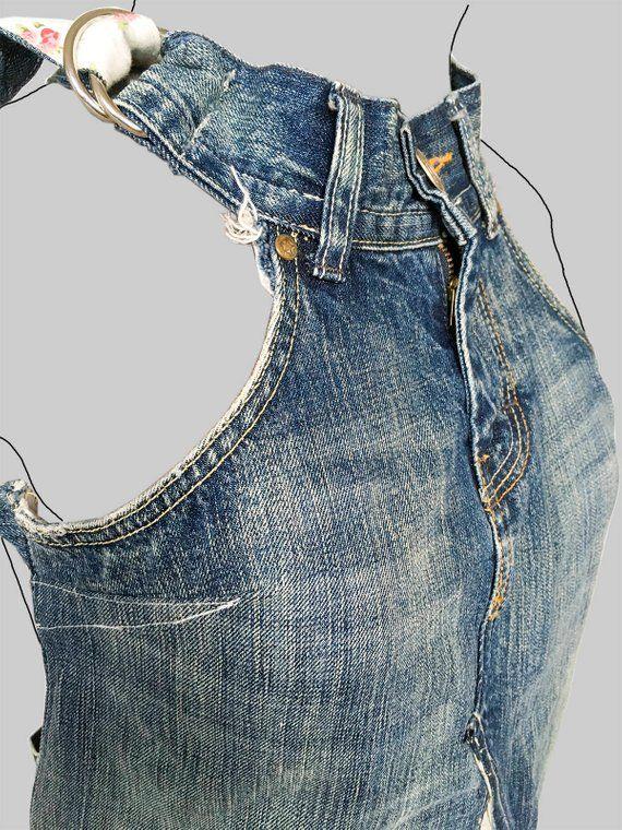 jeans dress 'dokjurk' loose fit A-line shape   Etsy  – Costura
