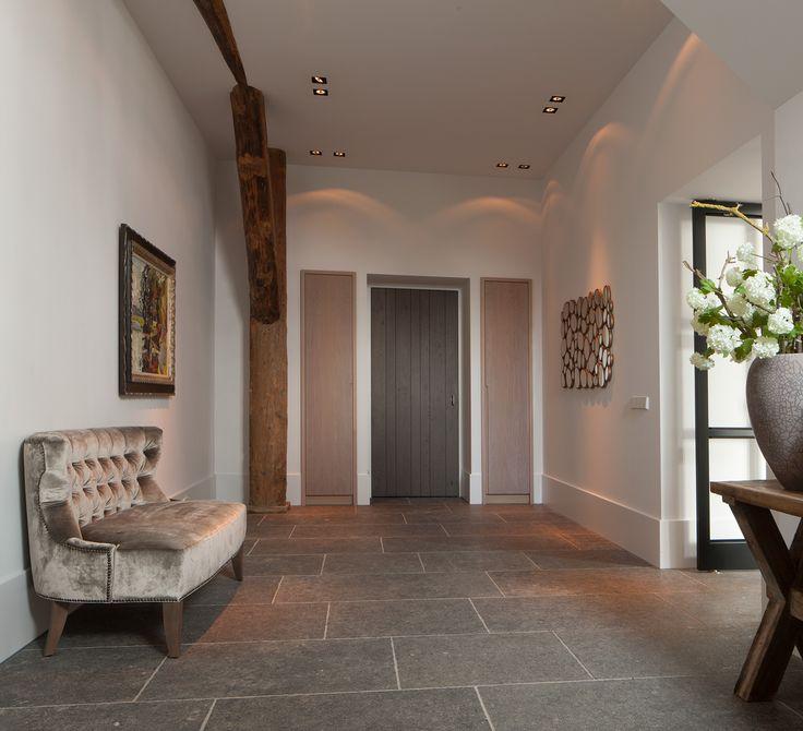 Belgian bluestone grand antique de bocq floor tiles for Bluestone flooring interior