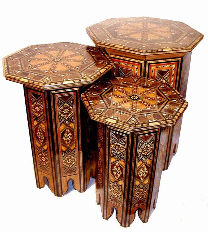 Syrian Inlaid Tables A Trio Is Perfect Instead Of One Big Coffee Table And You