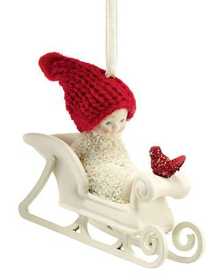 Department 56 Christmas Ornament, Snowbabies Christmas Memories Jingle All the Way My Mom loved red birds