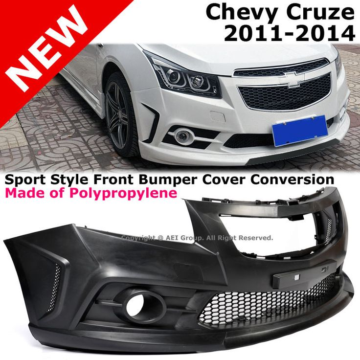 Chevy Cruze 11-14 Front Bumper Cover Kit Conversion P.P. Black #AftermarketProducts