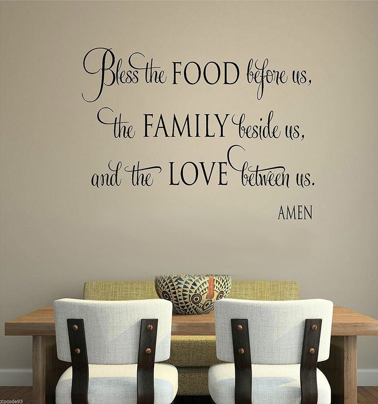 Bless This Food Before Us The Family Beside Us And The Love Between Us Wall Decal Sticker Art Mural Home Décor Quote >>> See this great product. (This is an affiliate link and I receive a commission for the sales)