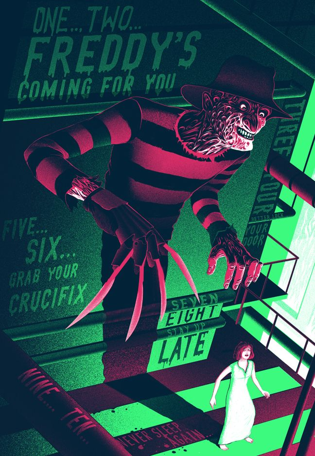 Elm Street Poster List Sam Chivers Jpg 648 937 Horror Posters Horror Movie Icons A Nightmare On Elm Street