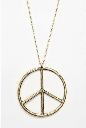 Peace Sign Necklace. Sold at LIVING PEACFULLY.