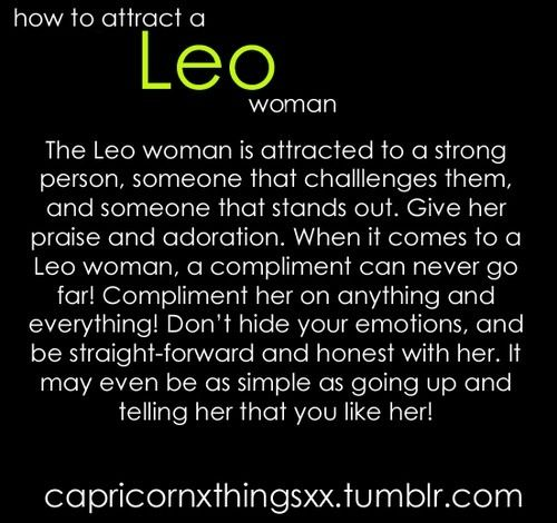 How to attract leo women....this is spot on, men!