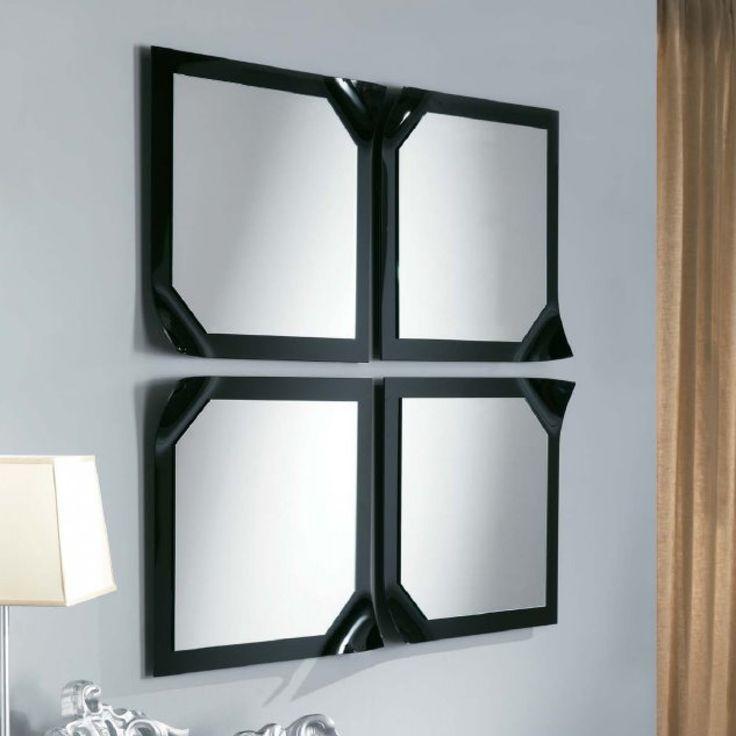 Virgola mirror - composition with 4 square mirrors