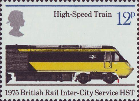 150th Anniversary of Public Railways 12p Stamp (1975) High Speed Train, 1975