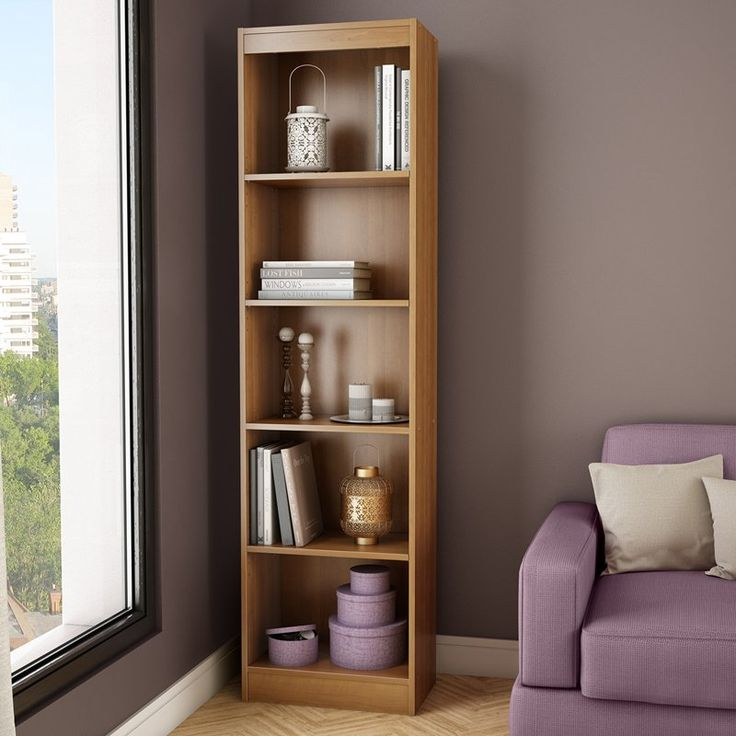 South Shore Axess Collection 5 Shelf Narrow Bookcase   Morgan