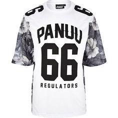White Panuu floral print mesh varsity t-shirt - branded t-shirts - t-shirts / vests - men