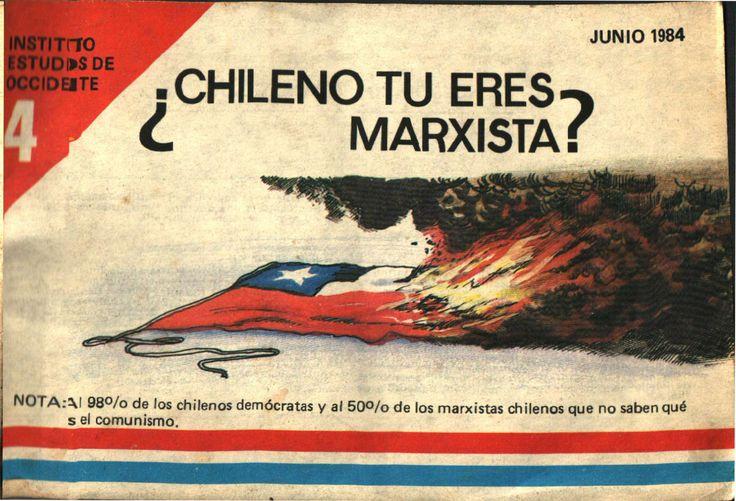 """Chileno tu eres Marxista?"" - Propaganda de 1984 (x-post de r/PropagandaPosters)"