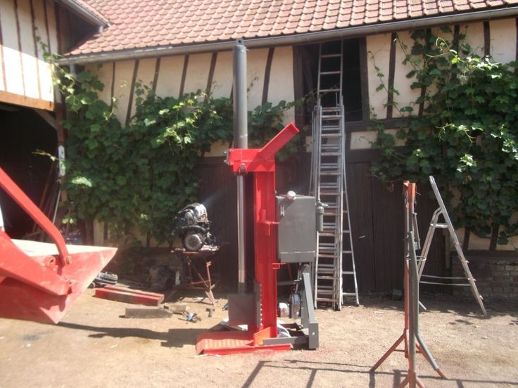 Fabrication D Une Fendeuse Verticale Pour Le 140 Fendeuse A Bois Bois Tronconneuse