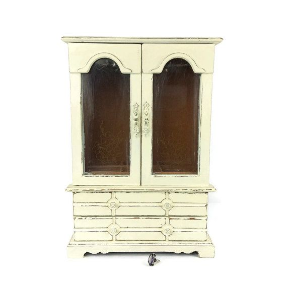 LARGE JEWELRY BOX For Sale Vintage Jewelry Armoire by ShabbyShores