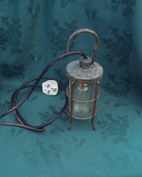 Quality Classic Vintage Hooked Brass Inspection Lamp Light  | eBay