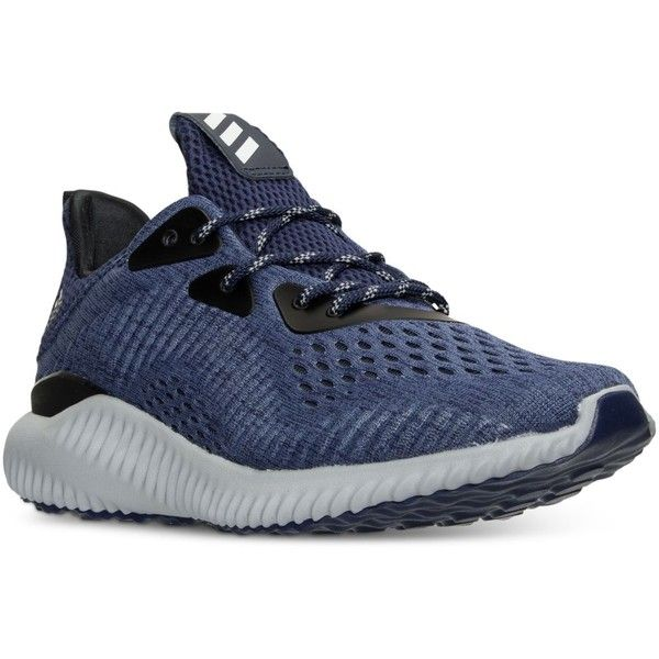 adidas Men's Alpha Bounce Em Running Sneakers from Finish Line ($110) ❤ liked on Polyvore featuring men's fashion, men's shoes, men's sneakers, mens running sneakers, mens shoes, mens training shoes, adidas mens sneakers and mens running shoes
