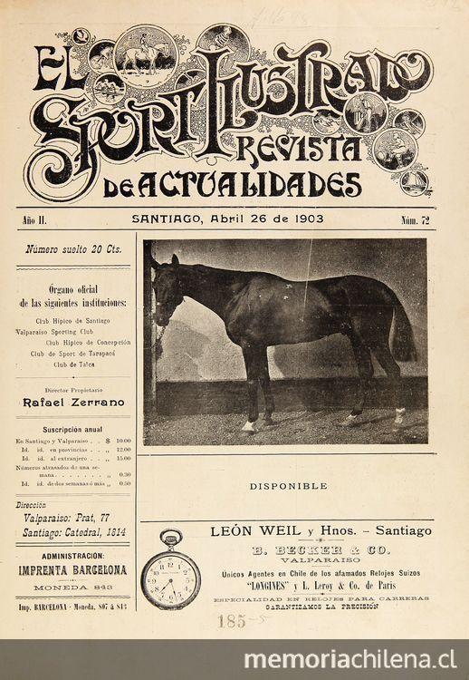 El Sport ilustrado: año 2, n° 72-99, 26 de abril a 27 de diciembre de 1903