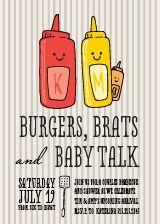 Burgers N'Brats Baby Shower Invitation