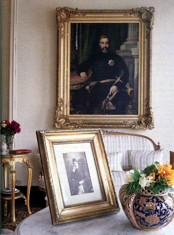 In this portrait, painted when he was ambassador to London, a mere decade after the first portrait, Kibrisli Mehmet Emin Pasha is only about forty. The strain of his domestic problems is all too clear. The photograph dates from the yali's heyday at the turn of the century, when it was filled with politicians, philosophers and writers.
