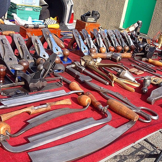 """A little early with my #handtoolthursday post this week.Dons stall at one of my regular car boot sales.#oldtools #woodworking Oh and yes I did buy a little something , show you later"" Photo taken by @berncarpenter on Instagram, pinned via the InstaPin iOS App! http://www.instapinapp.com (03/18/2015)"